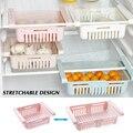 Регулируемый растягивающийся органайзер для холодильника с выдвижными ящиками