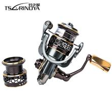 TSURINOYA Jaguar Sequence 1000 2000 3000 Double Spool Stainless Metal Bearing Extremely-light Lure Spinning Reel Rocky Fishing Reel