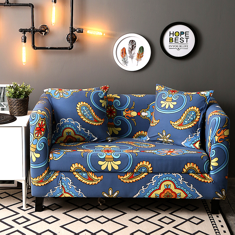 Printed universal Sofa cover flexible Stretch Big Elasticity Couch cover flower Machine WashableLoveseat sofa Funiture Cover