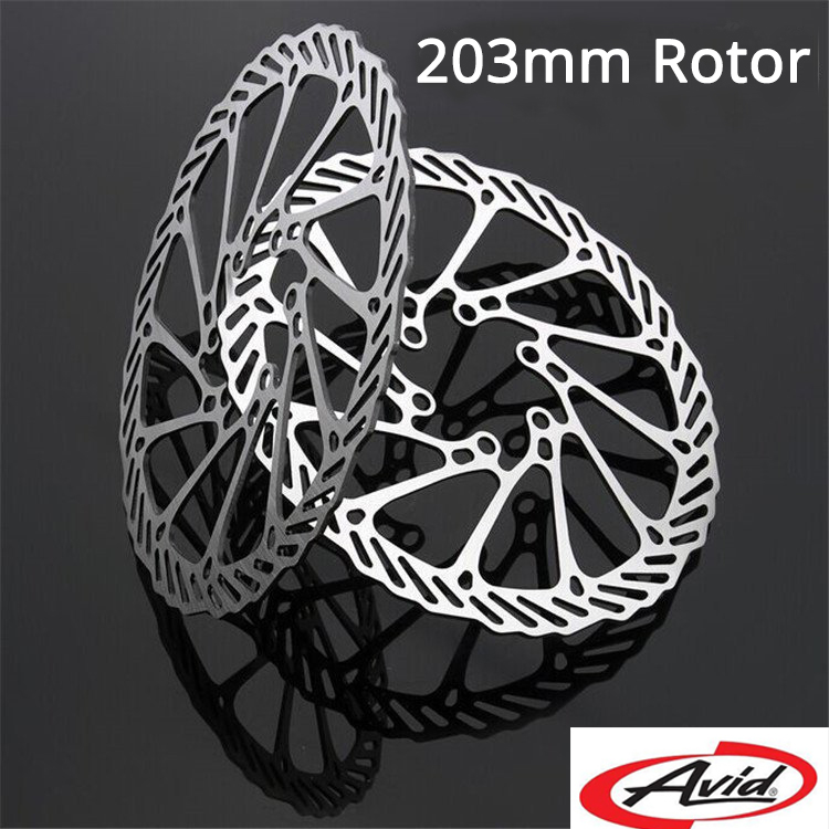 1 Piece 6 Bolts AVID 203mm MTB Road Bike Brake Disc Rotors Hydraulic Mechnical Mountain Bicycle Disc Brake Rotor line pulling road bike oil disc brake mtb bicycle bike brake mountain bike hydraulic disc brake with rotors