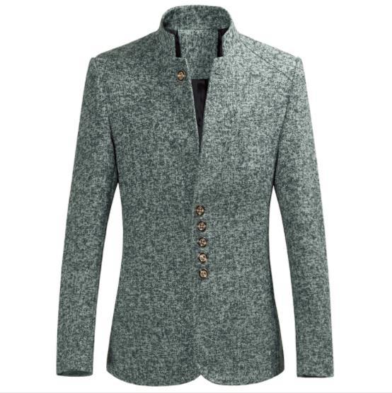Nieuwe Casual Blazer 2019 Winter Jakets Voor Mannen Blazer Hombre Slim Fit Stand Kraag Heren Windjack Verdikte Jas En Digestion Helping