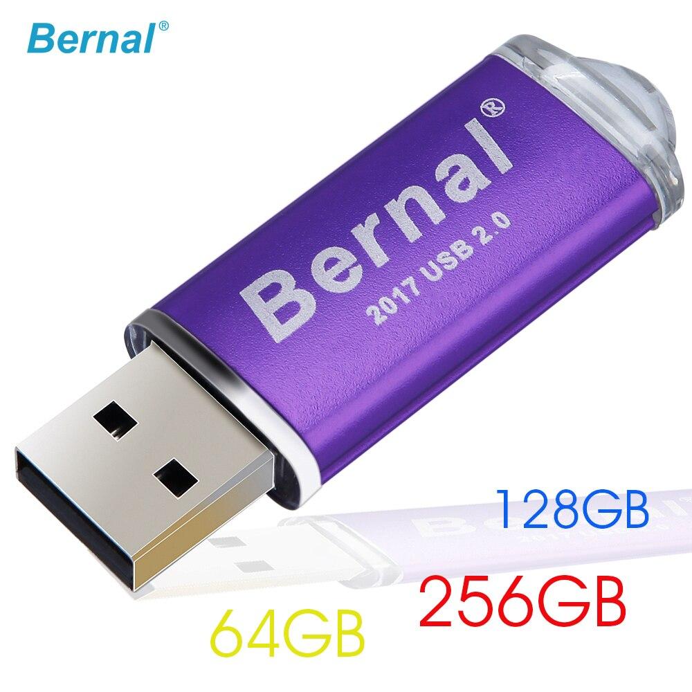 Bernal Grande capacidade USB Flash Drive 256GB 128GB 64GB Pendrive de memória flash de Alta Velocidade USB 2.0 Flash pen Drive