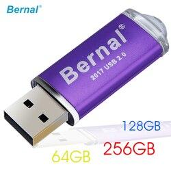 Movimentação de alta velocidade da pena do flash de usb 256 gb 128 gb 64 gb da memória flash da movimentação 2.0 do flash de usb da grande capacidade bernal