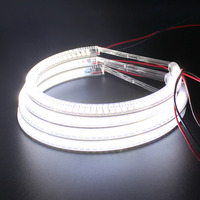 Kit de luces LED de 131MM + 145MM, Ojos de Ángel, xenón blanco, SMD, LED, Halo, anillos para BMW E46 sin proyector