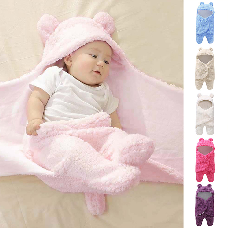 Blanket & Swaddling Mother & Kids Cute Baby Blanket Cartoon Rabbit Ear Newborn Infant Baby Hooded Blankets Swaddling Photography Props Winter Knitted Jumpsuit Latest Technology