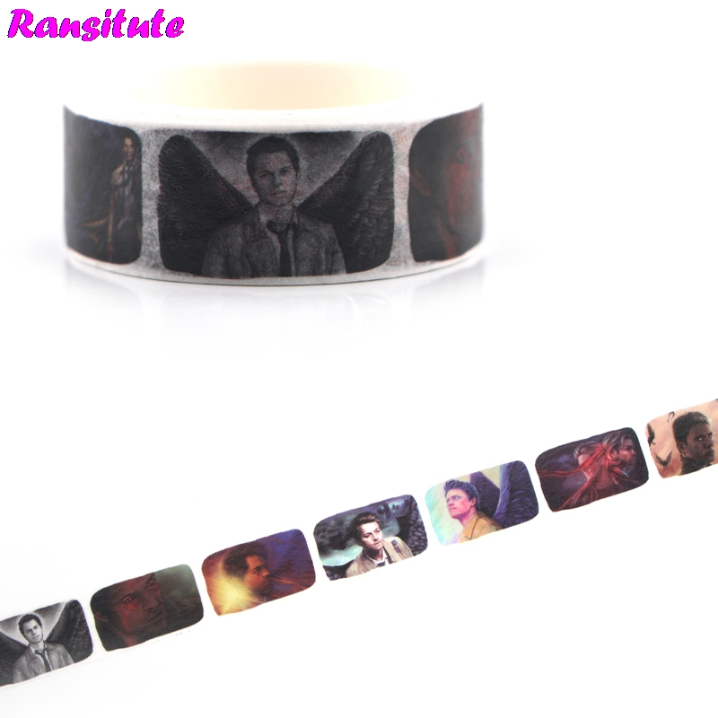 Ransitute R480 Supernatural Washi Tape Cartoon Animal Color Decoration Detachable Sticker DIY Masking Tape