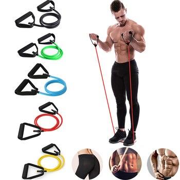 Taśmy oporowe do ćwiczeń siłownia opaska sportowa do ćwiczeń, elastyczne opaski Expander ciągnąć linę rury sprzęt do ćwiczeń dla domu pilates joga