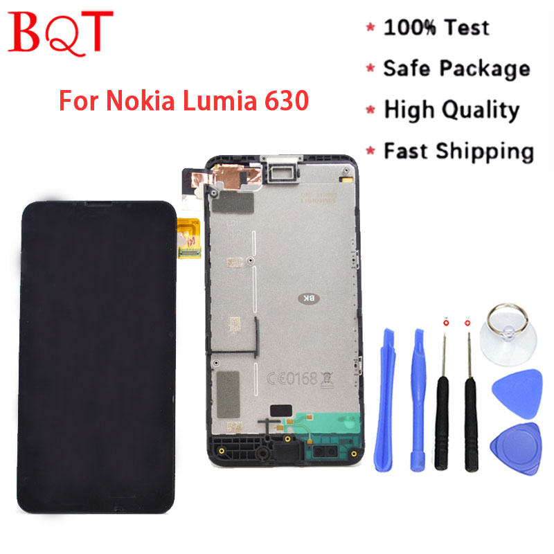 Best Quality Lumia 630 LCD For Nokia Lumia 630 LCD Display With Touch Screen Digitizer + Frame Full Assembly
