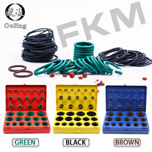 390PC Fluorine rubber Ring Green FKM ORings Kit 30Sizes O-ring Seal Rubber Washer Gasket O-Ring Set Assortment Box