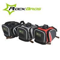 ROCKBROS Bicycle Saddle Rear Seat Tail Bag Waterproof Bag With Reflective Stipe Large Capacity Grey Red
