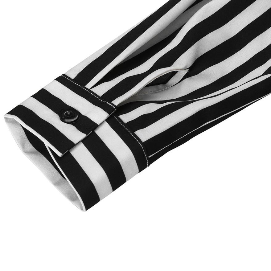 KANCOOLD Dress Women fashion Stripe Printed Long Sleeves Button Dress Bandage Belt Shirt Long Dress women 18AUG8 11