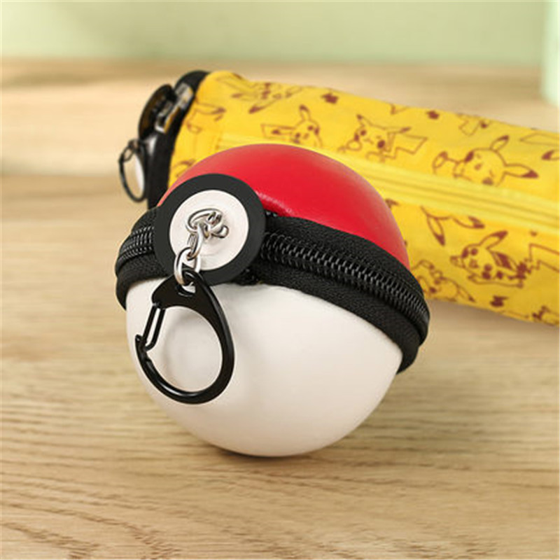 Cartoon Cosmetic Pokemon Go Gravity Purse Bag Received Wallet Makeup Pencil Pen Case Bag Zelda Pokemon Ball Purse Bag WT0049 main shaft spare parts for hisky hcp100s rc helicopter