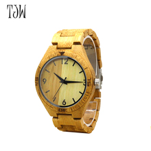 TJW 2017  Hot Sale wristwatches   bamboo wooden watches for men and women