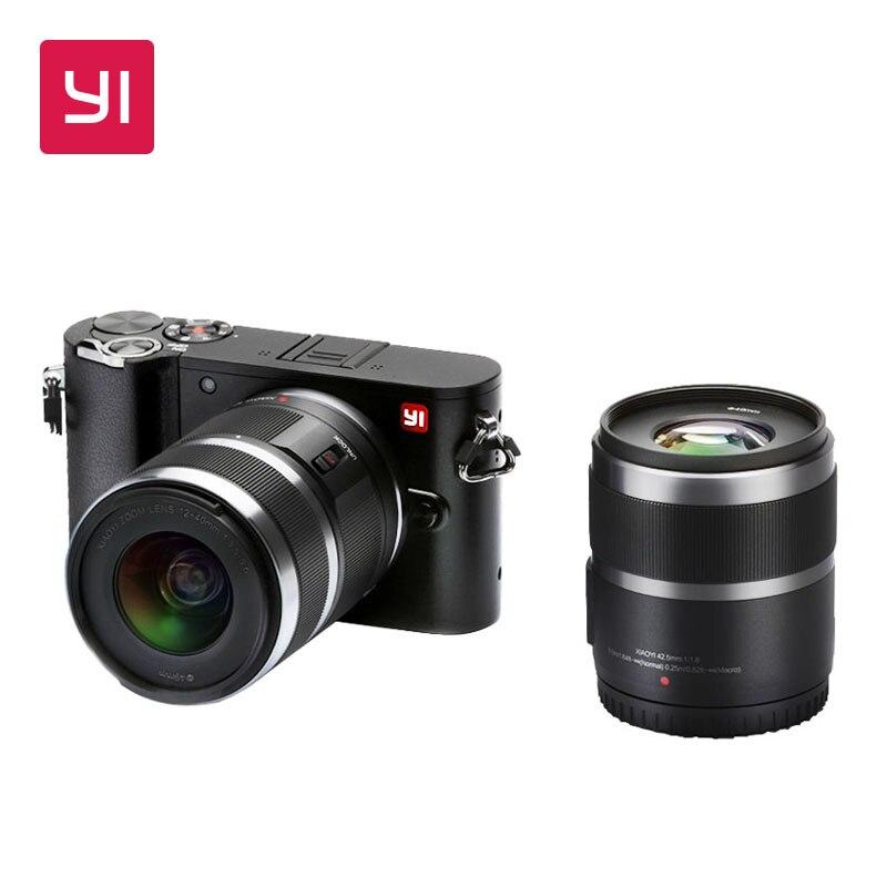 YI M1 Mirrorless cámara Digital primer Zoom dos lente LCD minimalista versión internacional materias primas 20MP grabadora de Video 720RGB