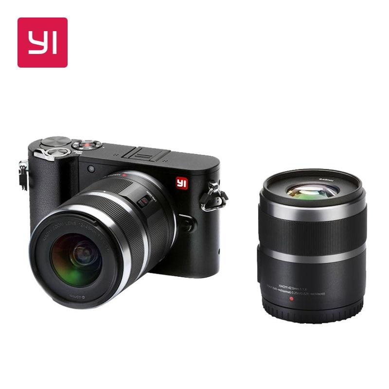 YI M1 cámara Digital sin espejo Prime Zoom dos lente minimalista versión internacional primas 20MP Video 720RGB