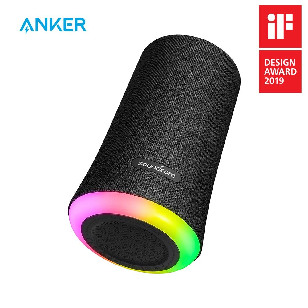 Anker soundcore flare portátil bluetooth 360 speaker alto falante com som todo redondo aumentado baixo ambiente luz led ipx7 impermeável| | - AliExpress