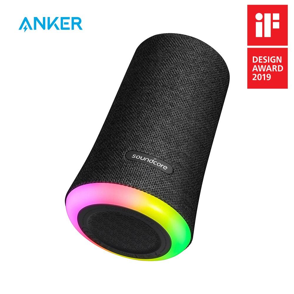 Escora Sonoridade Alargamento 360' Portátil Bluetooth Speaker com All-Round de Som de Graves Aprimorada IPX7 Ambiente LEVOU Luz À Prova D' Água