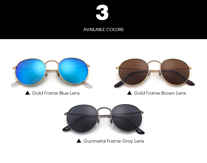 Cheap Round Vintage Sun glasses