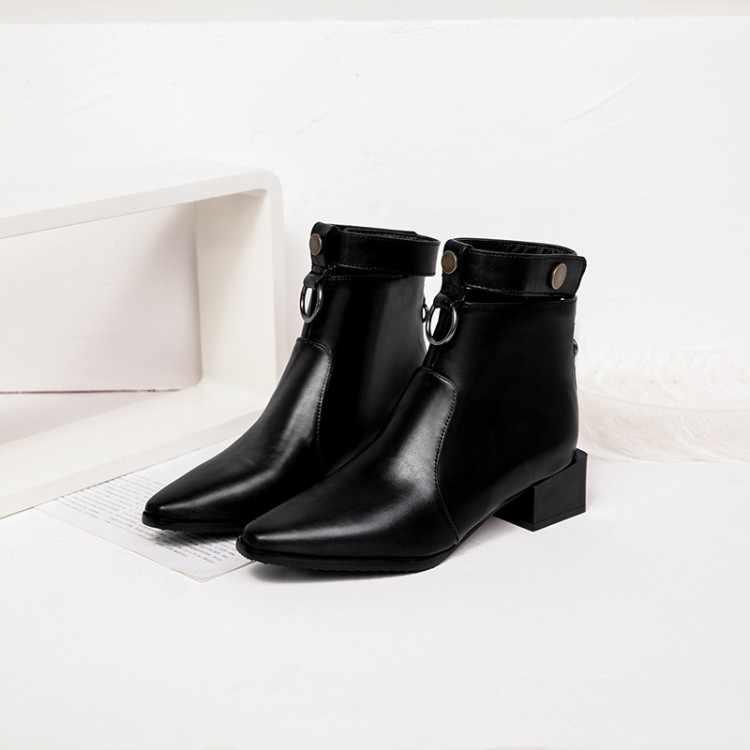 Большие размеры 9, 10, 11-17; ботинки; женская обувь; ботильоны для женщин; женские ботинки с ремешком и пряжкой на молнии сзади