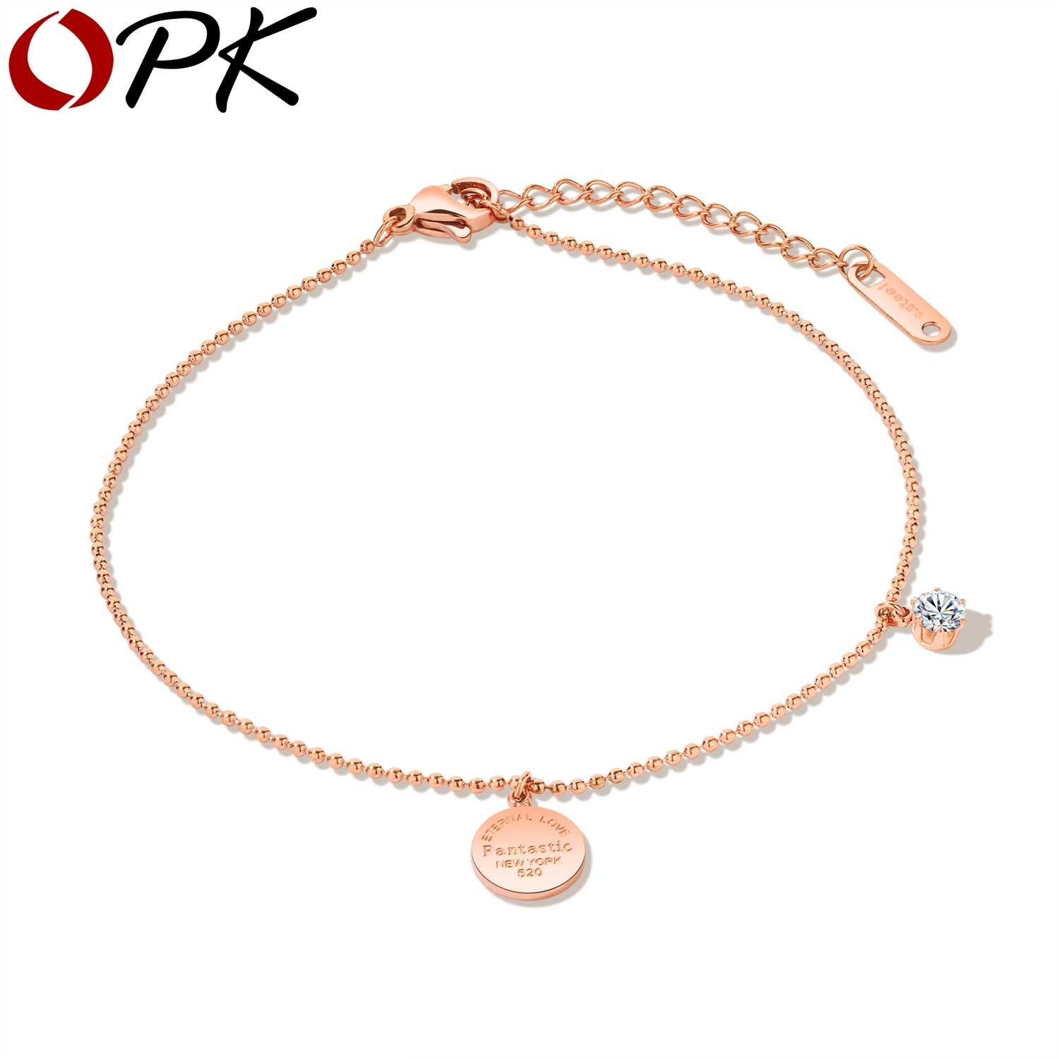 OPK 2018 Fashion Circle Pendant Anklet Bracelet Cubic Foot Chain Jewelry Bohemia Style Round Bead Anklet Friendship Gift GZ063