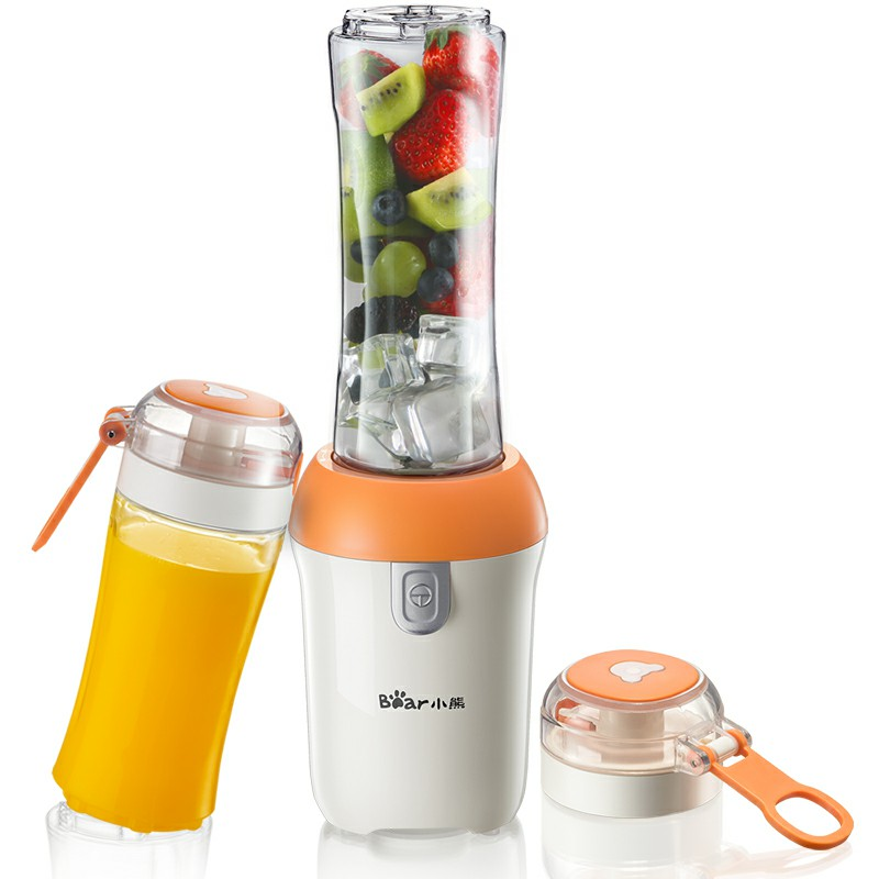 Bear 220V Automatic Portable Juicer Handheld Blender 400ml+600ml Cup Water Bottle LLJ-D05J1 top sale 600ml new electric protein shaker blender water bottle automatic vortex tornado free detachable smart mixer