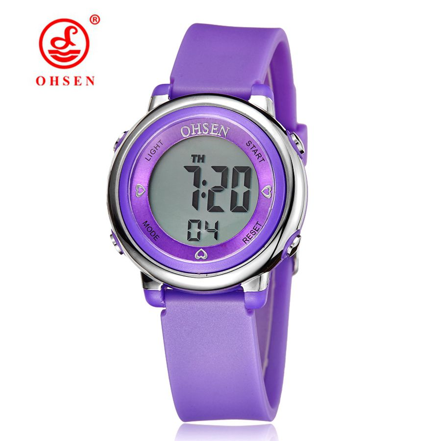 OHSEN 2016 Solar Digital Relojes para Hombres 5ATM Impermeable Cuarzo Poder LED Deportes mujeres Relojes al aire libre reloj relogio masculino