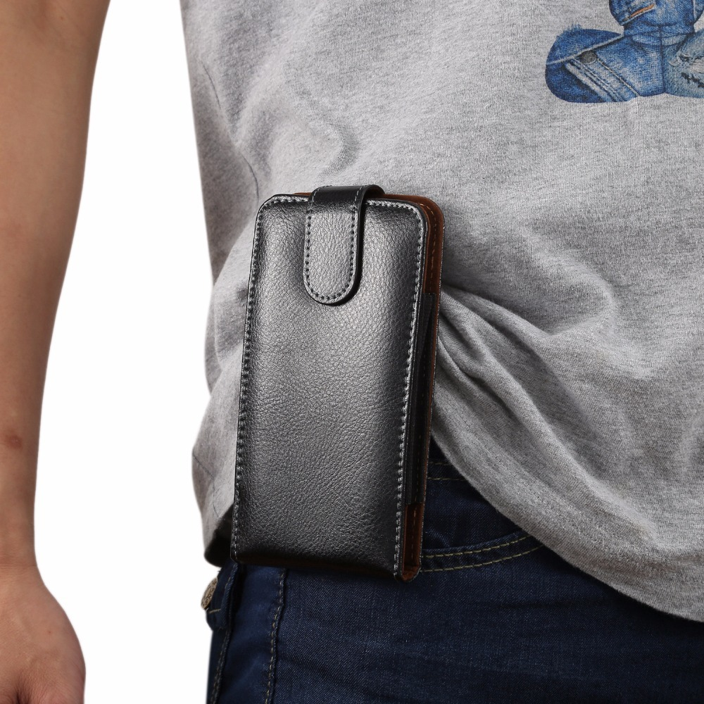 Universal 6.3 inch Below Holster Bag With Belt Pouch Slot Wallet Phone Case For Samsung iPhone Cell Phone