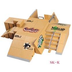 SK-K 11 + 4 piezas Super Multi-estilo combinación dedo Skateboard rampa parque para cubierta de tecnología y dedo JUNTA DE ETAPA DE LA PROPIEDAD