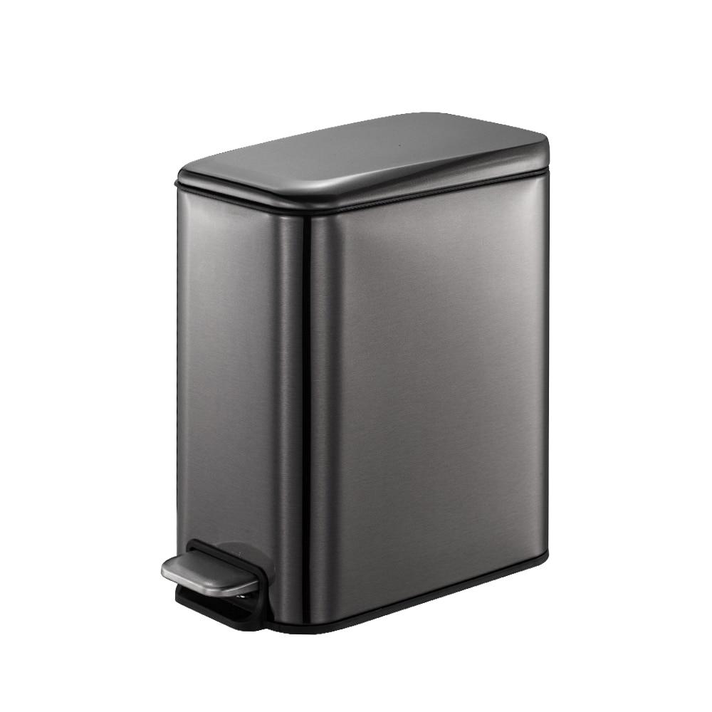 Smartbin 5l/1.3 galões de aço inoxidável lixo bin poeira bin cesta de lixo reciclar bin lixo cesta de papel preto dourado|Cestos de lixo| |  - title=