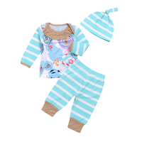 Newborn Baby Tops And Pants Clothes Sets Long Sleeve Infant Spring Autumn Clothes Wear 3PCS Cute