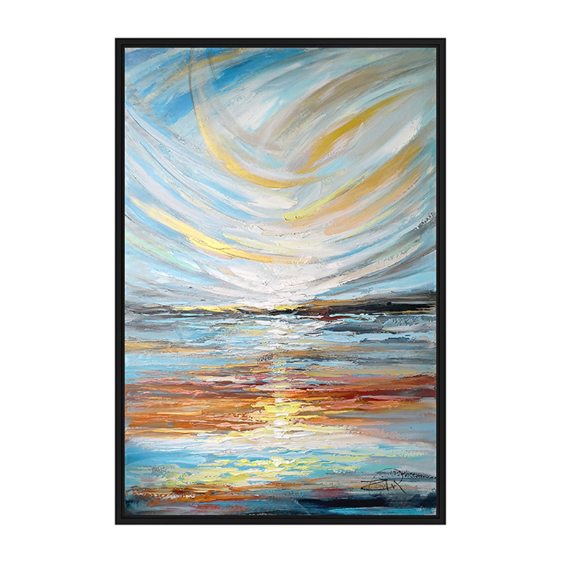 100 Hand painted Colorful scenery Art Oil Painting On Canvas Wall Art Wall Adornment pictures Painting For Live Room Home Decor in Painting Calligraphy from Home Garden