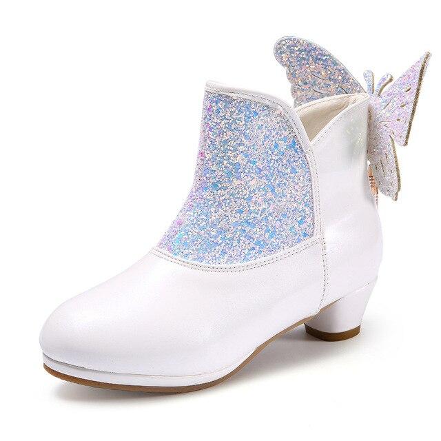 2017 Musim Gugur Musim Dingin Anak-anak Boot Anak Perempuan Sepatu Hak  Tinggi Putri Kecil 47d27d691c
