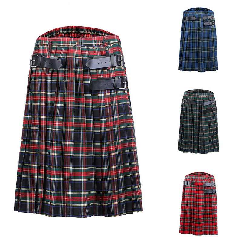 Schottischen Plaid kilt männer rock Taille Plaid Rock shorts Herren Kilt Traditionellen Gothic Rock Schottland Röcke Tartan Hose