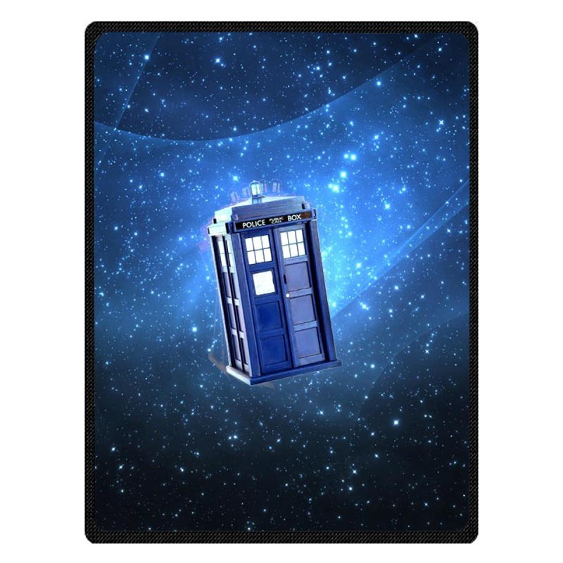 Super Soft Doctor Who Flannel Blanket For Sofa Bed Personalized Portable Children Travel Blankets Bed Sheet