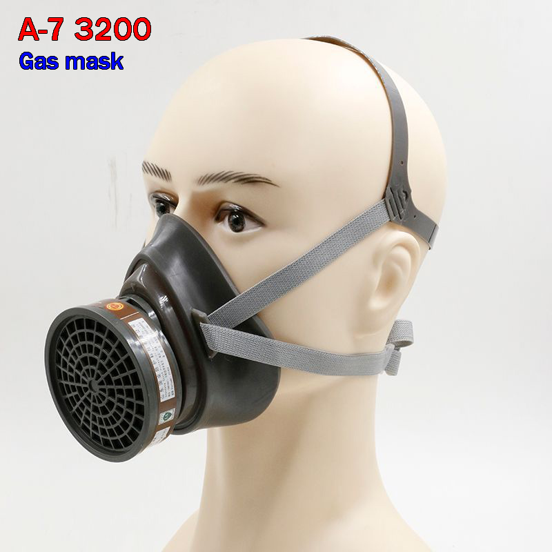 A-7 3200 respirator gas mask High quality carbon filter mask paint pesticides spray spraying mask industrial safety face shield стоимость