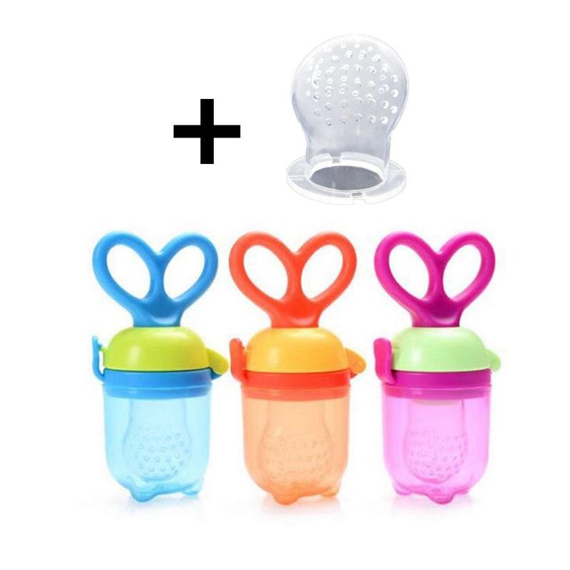 Fresh Food Nibbler Baby Pacifiers Feeder Toddler Fruit Feeder Nipples Feeding Safe Baby Nipple Supplies Teat Pacifier Bottle Nibbler