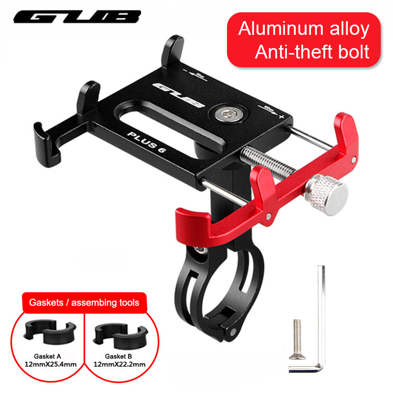 Metal CNC Bicycle Cell Phone Holder MTB Mountain Bike Motorcycle Handlebar Stem Clip Stand Fits for 3.5 - 6.2 Smartphones GUB