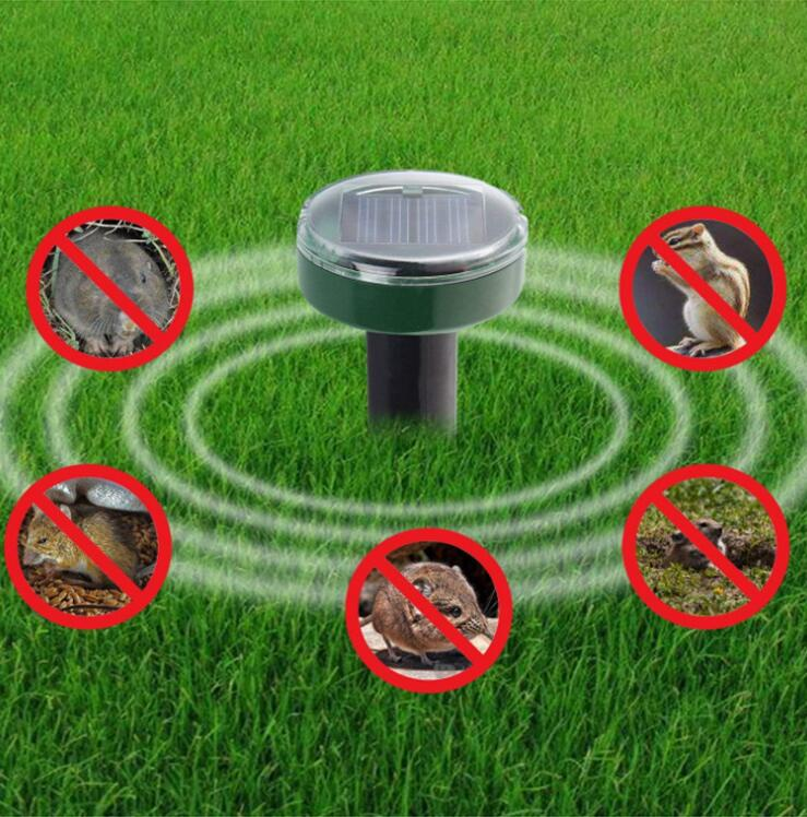 Garden Yard Outdoor Garden Mole Repellent Solar Power Ultrasonic Mole Snake Bird Mosquito Mouse Ultrasonic Pest Repeller Control