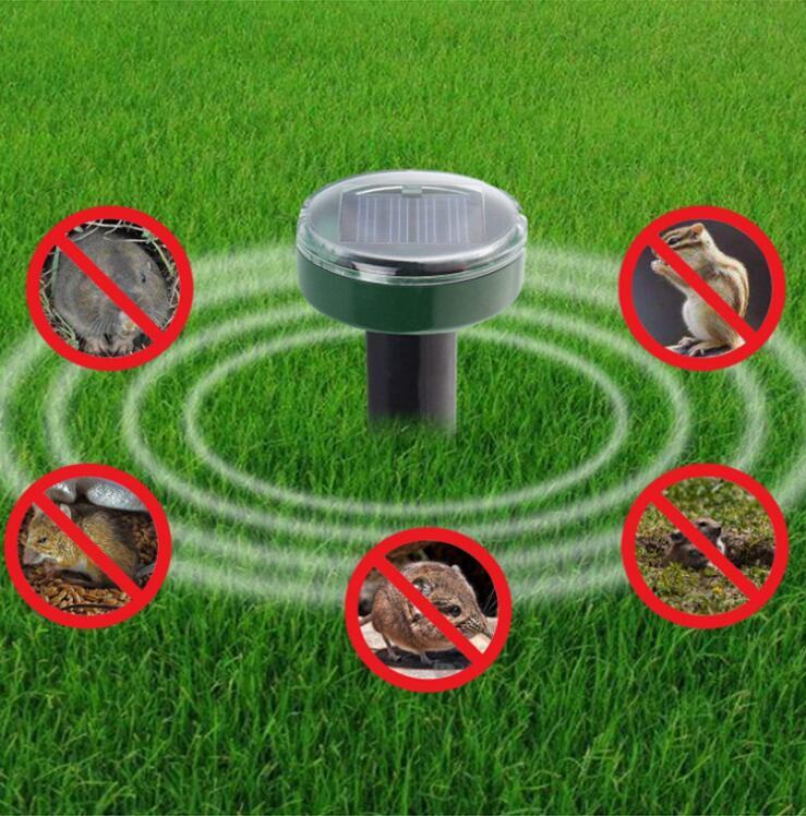 Garden Yard Outdoor Garden Mole Repellent Solar Power Ultrasonic Mole Snake Bird Mosquito Mouse Ultrasonic Pest Repeller Control