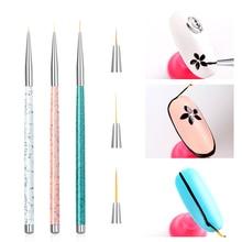 Nail Art Liner Painting Brush 5mm 8mm 11mm Nail Drawing Dotting Brushes UV Gel Acrylic Manicure Nails Brush Pen C110