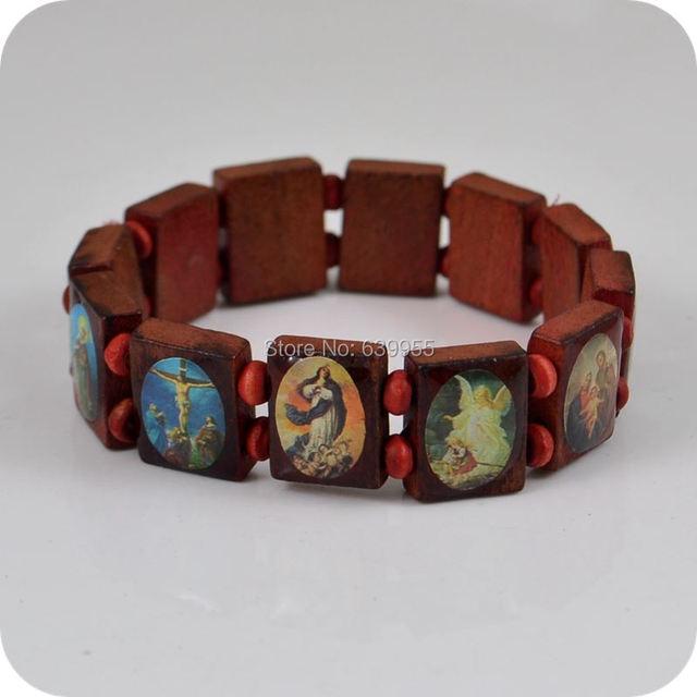 Rosenkranz armband holz