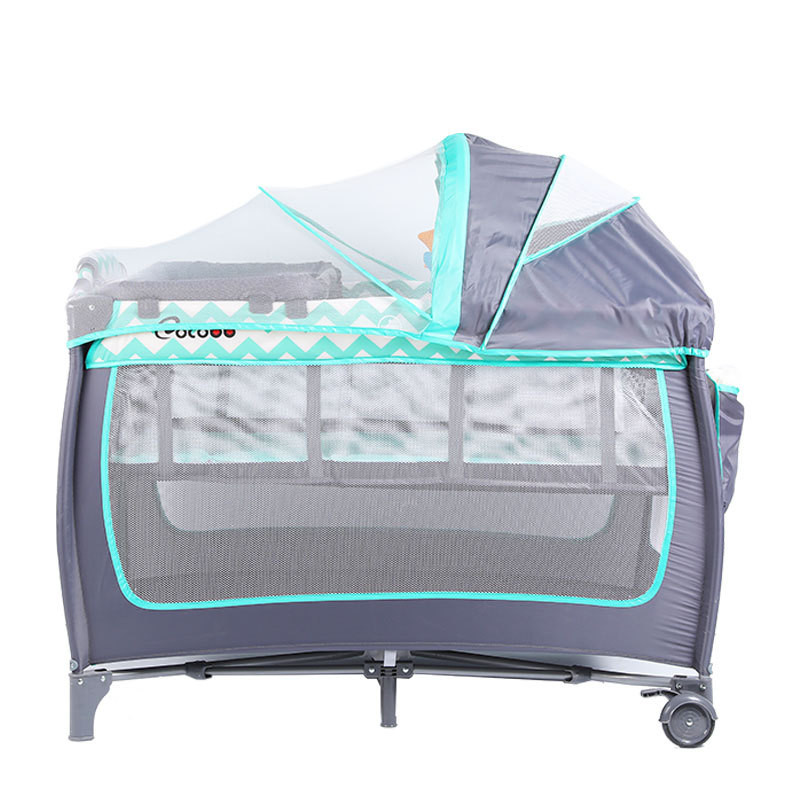 Portable Baby Bed For Newborn Multifunction Nursery Travel Folding Baby Crib Infant Toddler Cradle With Diapers Changing Table