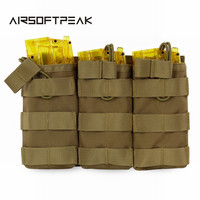Tactical Military Molle Vest Triple Accessory Bag 1000D Nylon Magazine Pouch Airsoft Shooting Hunting Tool Bags