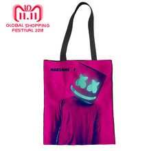 Marshmello School Bags Shopping Bag Fashion Women s Handbags Girls Tote Bag  Casual Shoulder Bags Canvas Handbag f70f6dc516003