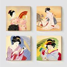 Painting Geisha Kabuki Natori Japan Print Canvas Classic Kimono Japanese Woman Wall Art for Home Decoration Artwork Best Gift пижама natori
