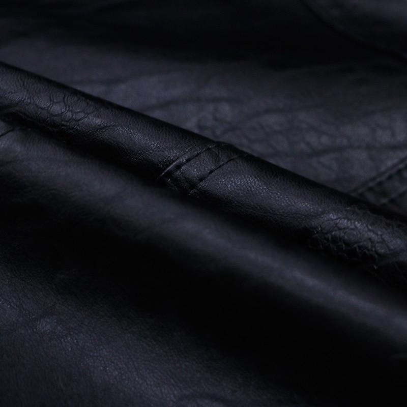 Manteaux Veste Femmes Moto Automne Nouveau Mince Noir Cuir 2018 qzRvAAFx