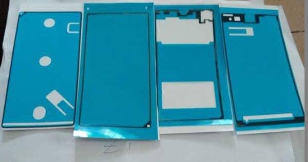 Original nouveau autocollant complet pour Sony Xperia Z1 L39h 4 pièces/ensemble LCD cadre avant plaque logement batterie couverture arrière autocollants adhésifs