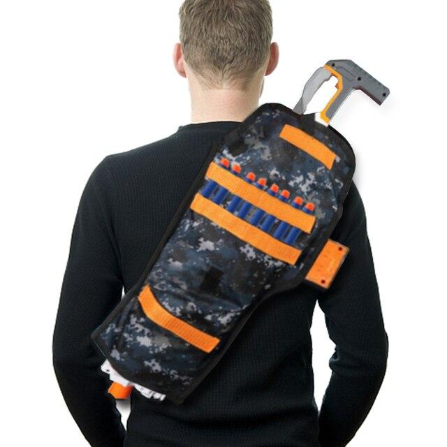 For Nerf N-Strike Game Toy Gun Bullet Storage Bag Camouflage Back Pocket  Adjustable Backpack