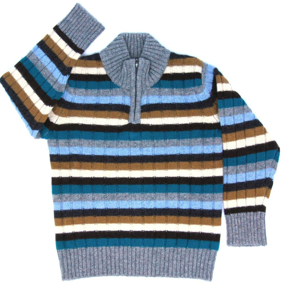 Children's Clothing Sweaters Cashmere Warm Soft Knitted Baby Boys Pullovers Blue stripes Sweatercoat for Boy Italy Designer blue sky cashmere blue sky cashmere кашемировый кардиган с шелком 160842