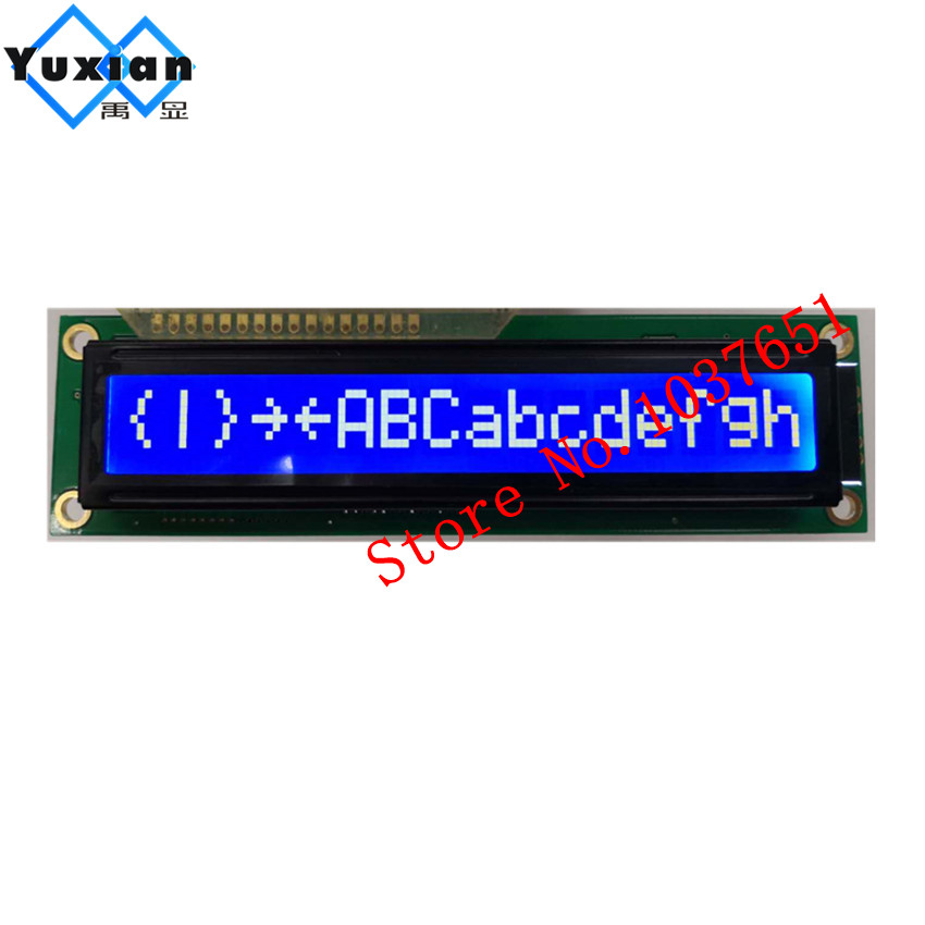 1pcs 1601 161 16*1 Big Character Lcd Display Panel Stn Blue White Led Backlight 5v Hd44780 122*33mm Hy-1601e-801-r Consumers First